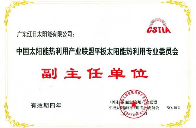 中国太阳能热利用产业专业委员会副主任单位