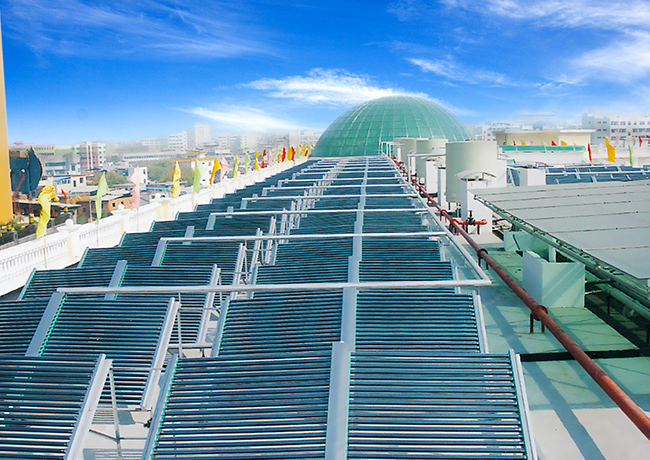 玻璃真空管太阳能热水工程