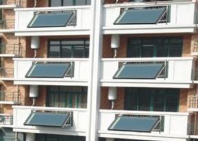 阳台壁挂太阳能热水器成中高层建筑节能首选